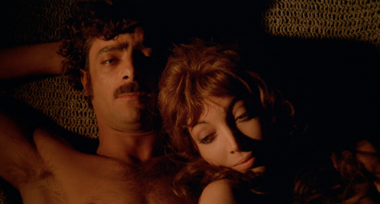 Giancarlo Giannini and Mariangela Melato in THE SEDUCTION OF MIMI.