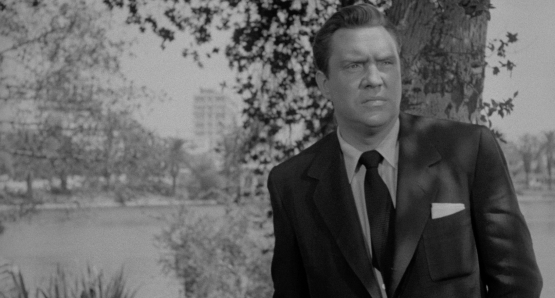 Edmund O'Brien is a man with a secret in Ida Lupino's THE BIGAMIST.