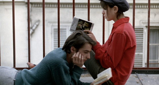 Jean-Pierre Léaud and Juliet Berto in LA CHINOISE.