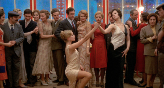 Dominique Sanda as Anna and Stefania Sandrelli as Giulia in Bernardo Bertolucci's THE CONFORMIST. The cinematography is by Vittorio Storaro.